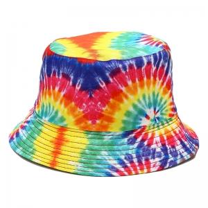 FHW083 Rainbow Color Tie-dye Bucket Hat, #1