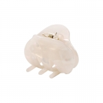 FHW095 Marbel Oval Shape Mini Claw, Ivory