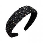 FHW101 Tweed Fabric Headband, Black