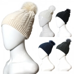 FHY7315 ACRYLIC CABLE KNIT BEANIE HAT