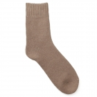 FO001 Solid Color Winter Socks, Beige (6 Pairs)