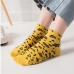 FO005 Leopard Pattern Low-ankle Socks, White(6pcs/pack)