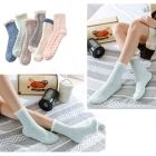FO009 Solid Knitted Pattern Soft Plush Socks - Dz