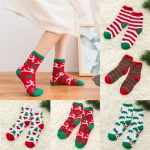 FO020 Christmas Pattern Soft Plush Socks (DZ)
