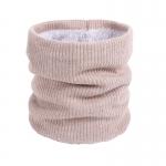 FS018 Solid Color Fleece Neck Gaiter - Beige