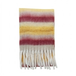 FS019 Color Blocks Pattern Oversized Scarf, Orange