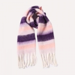 FS019 Color Blocks Pattern Oversized Scarf, Purple