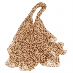 FS027 Sheer Cheetah Pattern Scarf, Brown
