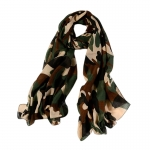 FS030 Real Camouflage Pattern Scarf, Green