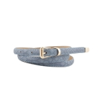 FSA001 Faux Leather Solid Color Belt,  Blue