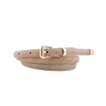 FSA001 Faux Leather Solid Color Belt,  Taupe