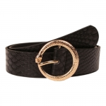 FSA012 Animal Pattern Faux leather Belt - Black