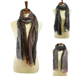 FSY7327 TRANSITIONAL PAISLEY PRINT SCARF
