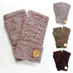 G5234 Fingerless Gloves with Button