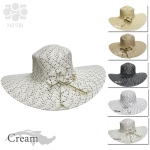 H2138 Ladies' Straw Hat with Flower