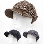 H5211 Metalic Cable Warm Knitted Cap