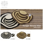 HA1003 Stripe Straw Hat