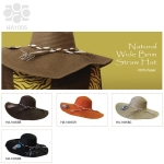 HA1005 Natural Wide Brim Straw Hat