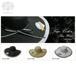 HA1014 Two Tone Paper Hat with Ribbon