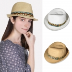 HC1004 STRAW HAT W/ AZTEC BAND