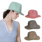 HY1020 Stripe Straw Sun Hat