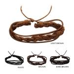 IBR361 Leather Braided Bracelet (DZ)