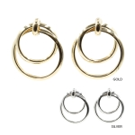 IER3635 Bold Double Circle Earring (DZ)