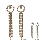 IER3655 Rhinestone Long Drop Earring (DZ)
