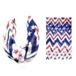 IF00952 USA Flag Style Infinity Scarf