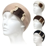 IH0341 Two Button Knit Head Band