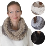 IS1007 Knit Furry Infinity Scarf