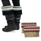 IW0093 Suede Bohemian Leg Boots Cuff