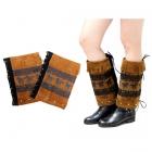 IW0105 Suede Tassle Boots Cuff