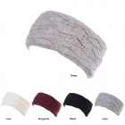 JB705 Solid Color Knitted Pattern Headband (DZ)