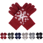 JG519 Snowflake Pattern Double Layered Gloves (Dozen Pack)