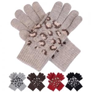 JG520 Leopard pattern Double Layered Gloves (DZ)