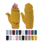 JG602 Fingerless Crochet Pattern Double Layered Gloves (by Color/DZ)