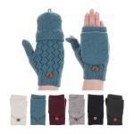 JG602 Fingerless Crochet Pattern Double Layered Gloves (DZ)