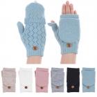 JG602P Crochet Double Layered Fingerless Gloves (DZ)
