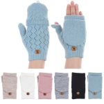 JG602P Crochet Double Layered Fingerless Gloves (DZ)