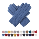 JG622 Basic Cable Knitted Double Layered Glove (by Color/DZ)