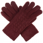 JG622 Double Layered Gloves, Burgundy