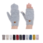 JG625 Solid Color Fingerless Double Layered Glove with Flap Cover (by Color/DZ)