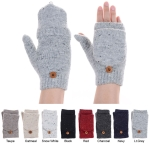 JG625 Solid Color Fingerless Double Layered Glove with Flap Cover (DZ)
