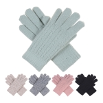 JG702 Narrow Cable Knitted Double Layered Gloves (DZ)