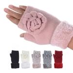 JG707 Big Flower Solid Double Layered Gloves (DZ)