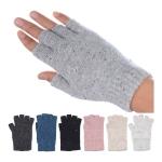 JG723 Marble Solid Color Fingerless Gloves (by Color/DZ)