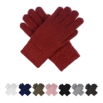 JG724 Solid Color w/Glitter Double Layered Gloves (DZ)