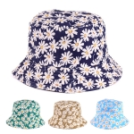 JH617 Small White Flowers Pattern Bucket Hat