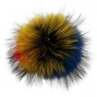 KC003 Detachable Real Fur Pom Pom Keychain